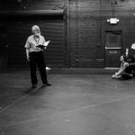 David Crystal gives the Pericles Ensemble notes on their OP after the first morning's stagger-through