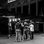 Warren Rusher keeps an eye as the Pericles Ensemble rehearse Jennifer Jackson's choreography for the shipwreck