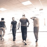 Fight rehearsals with the Murderers